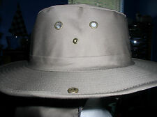 AWESOME NEW COCO BROWN AUSSIE BUSH HUNTING BOONIE SAFARI HAT WITH NECK FLAP