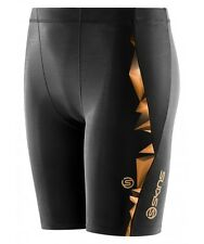* NEW * Skins Compression A400 Youth Half Tights (Gold) + FREE AUS DELIVERY
