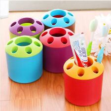 Home Use Porous Desktop Pen Container Toothbrush Toothpaste Holder