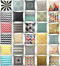 Cotton Linen Home Decor Throw Pillow Case Cushion Cover Geometry Nature