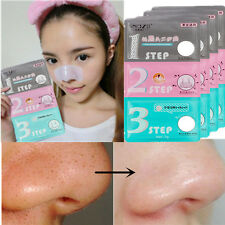 1/5/10XNose Cleaner Blackhead Removal 3-STEP Masks Packs KIT Peels Care Cleasing