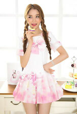 Harajuku Sakura Cheery Seaman School Sailor Students Uniform Dress Lolita Pink