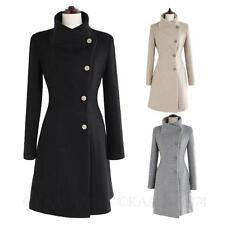 Womens Outerwear Party Dress Trench coats Belted jacket Vintage Ladies Coat Size