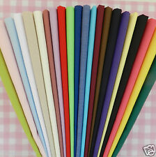 "per metre plain poly cotton fabric 23 colours pink white red blue ... 44"" wide"