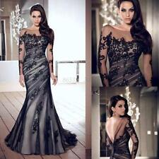 Long Lace Prom Evening Party Formal Wedding Bridesmaid Cocktail Maxi Dress Hot