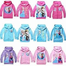 Girls Kids Clothing Elsa Anna Hoodies Coats Top Shirts 2-8Y Toddlers Sweatshirts