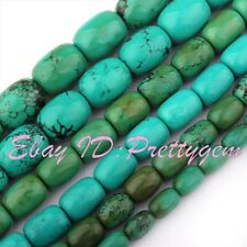"""Natural Column Smooth Turquoise Gemstone For DIY Spacer Loose Beads Strand 15"""""""