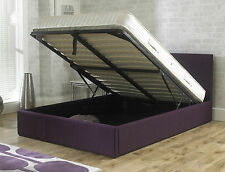 EMPORIA BEDS STIRLING 4FT6 DOUBLE 5FT KINGSIZE 6FT PLUM FABRIC OTTOMAN BED