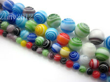 Wholesale MultiColor Round Lampwork Millefiori Glass beads 4/6/8/10mm You Pick!