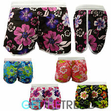 Womens Floral Swimming Shorts Ladies Summer Beach Surf Board Bottoms Pants S-XXL