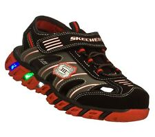 New Boy's Skechers 90415L S Lights Pillar S Light Up Closed Toe Sandals