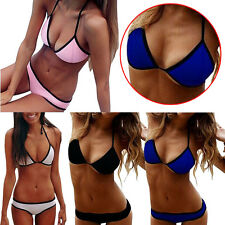 Women Lady Sexy Neoprene Bikini бикини Set Bra Swimsuit Bathing Suit Swimwear In