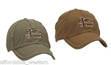 Frayed ~ Justin Boots BALL CAP ~ Cotton CANVAS Baseball Hat ONE-SIZE 83