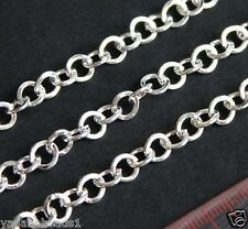 5ft flat round chunky cable chain 6mm Available in 6 colors