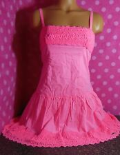 ABERCROMBIE & FITCH - Limited Edition Candy Pink Battenburg Lace Dress XS S M