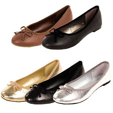 Womens Ballet Flats Slip On Shoes Casual Ballerina Slippers Loafer New Round Toe