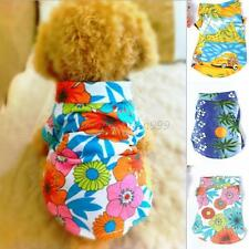 XS-XL Dog Pet Cat Floral Casual T-shirt Hawaiian Beach Coat Apparel Outwear  M10