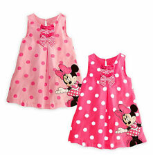 New Kids Baby Girls Skirt Cute Minnie Mickey Mouse Toddler Clothes Summer  Dress