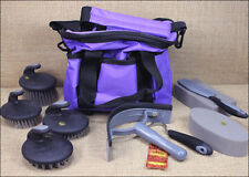 HILASON HORSE STABLE KIDS GROOMING TOTE KIT CARE CLEAN 10 PCS PALM COMFORT TOOLS