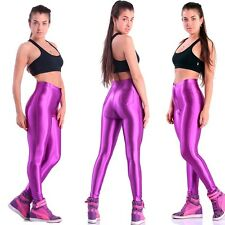 American Style Apparel Shiny Disco Pants Womens Trousers Leggings