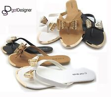 Womens Fashion Summer Shoes Sandals Flip-flops Flats Bow Cute Comfort Casual HOT
