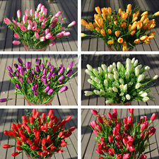 12 Head Best Quality Real Touch Artificial Tulip Flower Bridal Home Decor