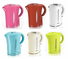 ELECTRIC CORDLESS JUG KETTLE 1.7 LITRE TEA COFFEE BOILING WATER KITCHEN COLOURED