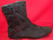 NEW Girl's Youth SODA ANNA Black Zip Buckles Fashion Mid CalfCasual/Dress Boots