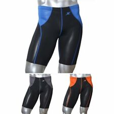 Mens Compression Shorts Running Tight FC Base Layer Shorts Waist Mesh Line
