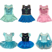 New Girls Princess Ballet Tutu Party Dance Dress 2-8Y Kids Leotard Skating Skirt