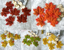 200pcs Fall Silk Leaves Wedding Favor Autumn Maple Leaf Decorations