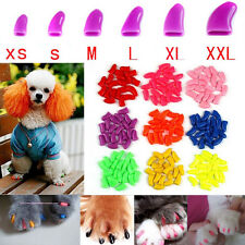 20pcs Soft Nice Pet Dog Paw Claw Protection Control Nail Caps Cover +1 Glue
