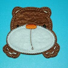 Teddy Bear Face Puffy Iron on Patch Applique Sew Badge Embroidered Cute Baby Lot