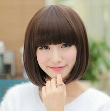 Western Stylish Sexy Short Brown Black Bob Wig Women's Hair Cosplay Party Wigs