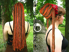 STEAMPUNK gipsy HENNA RED Dreadlocks DREAD hair FALL Tribal Fusion LARP COSTUME