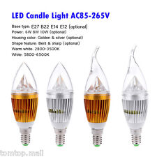 E12 10W LED High Power Chandelier Candle Light Bulb Lamp Wram White/Cool White