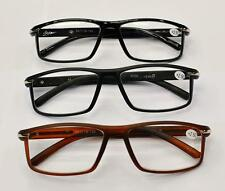 MT36 New for 2015 Stylish Retro Reading Glasses with Metal Strip, Black or Brown
