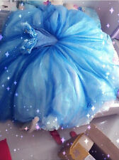 Movies Original Cosplay Costume Cinderella Ella Blue Dress Princess 5Kg Dress