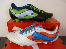 MENS PUMA POWERCAT 4 FG FIRM GROUND MOULDED STUD FOOTBALL BOOTS BLACK OR WHITE