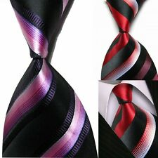 Mens New Classic 100% Striped silk Tie groom wedding Party Formal Suit Necktie
