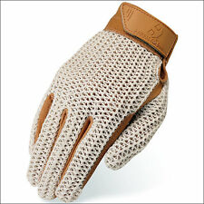 HERITAGE CROCHET RIDING GLOVES HORSE EQUESTRIAN