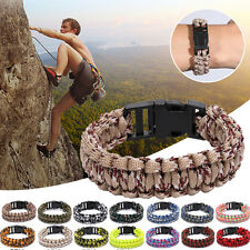 New Unisex Outdoor Self-rescue Survival Bracelet Paracord Rope Kits Lifesaving