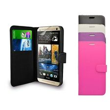 HTC DESIRE 820 PLAIN WALLET FLIP CASE IN VARIOUS COLOURS FREE SCREEN PROTECTOR