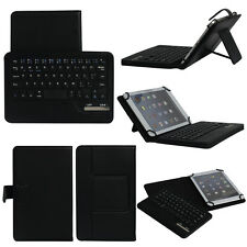 "Black Bluetooth Keyboard PU Leather Case Cover Fit For 7"" 8"" 10"" 10.1"" Tablet PC"