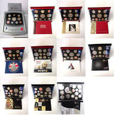 Birthday gift? GB deluxe proof coin year sets from 2000 - 2011; free UK postage