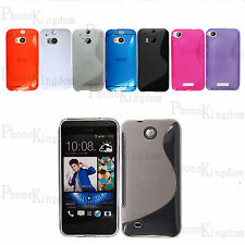S-Line Silicone TPU Gel Cover Case For HTC Phones Free Screen Protector