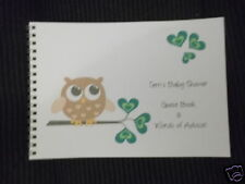 BABY SHOWER / NEW BABY MESSAGE / ADVICE / GUEST BOOK / GUESS GAME - OWL 1