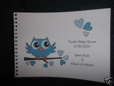 BABY SHOWER / NEW BABY MESSAGE / ADVICE / GUEST BOOK / GUESS GAME - OWL
