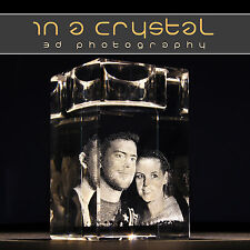 3D CRYSTAL PHOTO // UNIQUE CANDLE HOLDER  // CUSTOMISED GIFTS !!