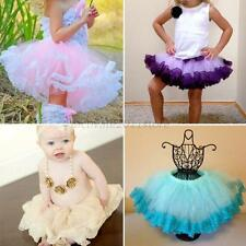 Princess Kids Girl Multilayer Tulle Party Dance Dress Short Cake Tutu Skirt 2-8Y